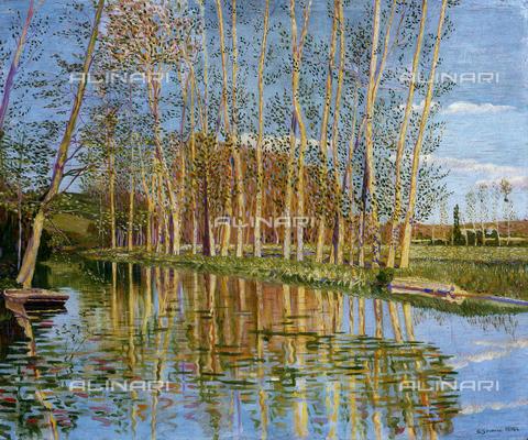 CAL-F-001963-0000 - Paesaggio francese, olio su tela di Gino Severini, Collezione privata - Data dello scatto: 1991 - Archivi Alinari, Firenze