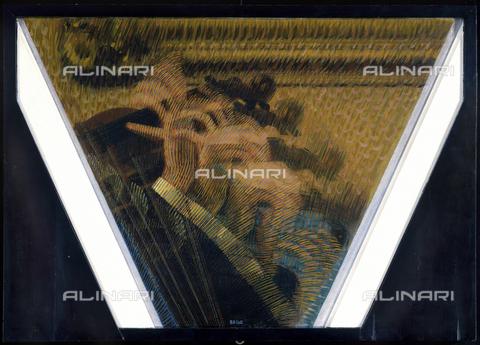 CAL-F-001965-0000 - La mano del violinista (Ritmi del violinista), dipinto di Giacomo Balla, Collezione privata - Data dello scatto: 1991 - Archivi Alinari, Firenze