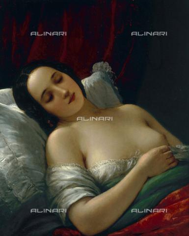 CAL-F-002590-0000 - La dormiente. Dipinto di Natale Schiavoni, conservato presso il Museo Civico Revoltella a Trieste. - Data dello scatto: 1994 - Archivi Alinari, Firenze