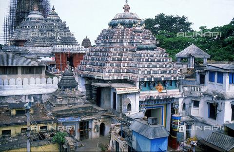 CAL-F-006623-0000 - La porta dei leoni, nel tempio Jagannath, a Orissa Puri, antica Daintpur, in India. Il tempio rappresenta uno dei quattro Dham dell'India; centro di pellegrinaggio nel quale si celebra il Rath Yatra, la festa più importante del tempio, chiamato anche Pagoda bianca. - Data dello scatto: 1989 - 1991 - Archivi Alinari, Firenze