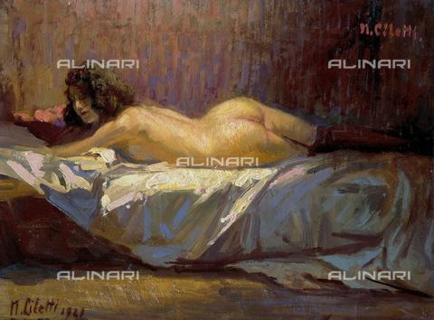 CAL-F-010988-0000 - Nuda; dipinto eseguito da Nicola Ciletti conservato nel Museo Civico Giuseppe De Nittis di Barletta - Data dello scatto: 2002 - Archivi Alinari, Firenze