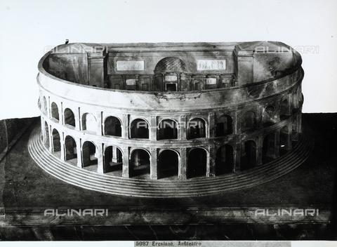 CGA-F-005087-0000 - Modellino del Teatro romano di Ercolano, Napoli - Data dello scatto: 1890 - 1900 ca. - Archivi Alinari, Firenze