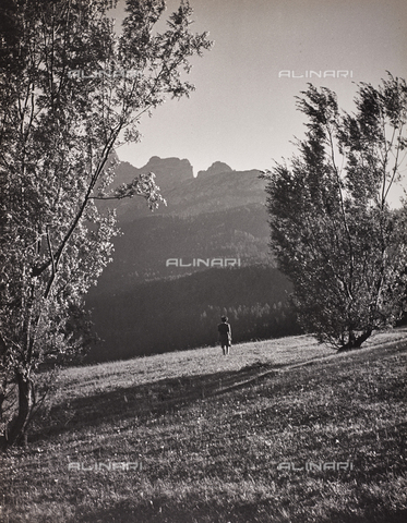 CGD-F-000022-0000 - Mountain landscape - Date of photography: 1948 - Fratelli Alinari Museum Collections-Corinaldi Donation, Florence