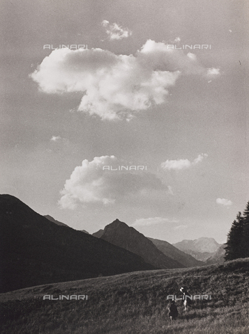 CGD-F-000312-0000 - Mountain landscape - Date of photography: 1955-1965 - Fratelli Alinari Museum Collections-Corinaldi Donation, Florence