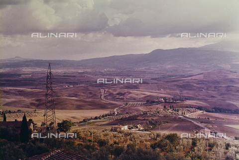 CGD-F-000818-0000 - View of the Val d'Orcia from Pienza - Date of photography: 09/1973 - Fratelli Alinari Museum Collections-Corinaldi Donation, Florence