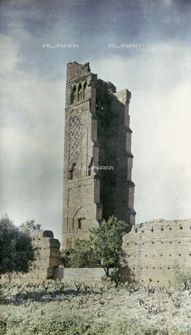 CHA-F-AU0626-0000 - Ruins of a tower in Morocco - Data dello scatto: 1907 - Archivi Alinari, Firenze