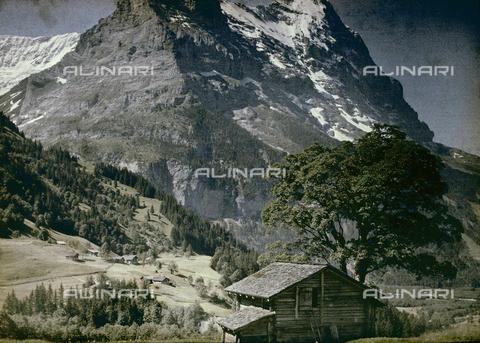 CHA-F-AU0730-0000 - Refuges at the foot of the Grindelwald Glacier in Switzerland - Data dello scatto: 1910-1920 ca. - Archivi Alinari, Firenze