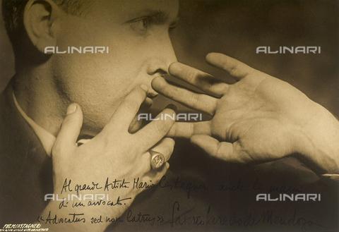 CMA-F-001605-0000 - Study of the hands and face of the lawyer Loredo de Mendoza - Data dello scatto: 1930 ca. - Archivi Alinari, Firenze