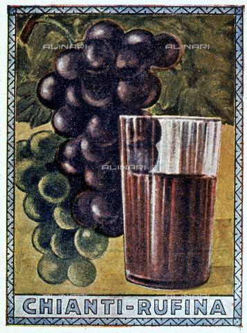 DAL-F-000346-0000 - Un manifesto storico del Chianti Rufina. Museo della Vite e del Vino, Villa di Poggioreale, Rufina. - Data dello scatto: 1987 - Archivi Alinari, Firenze