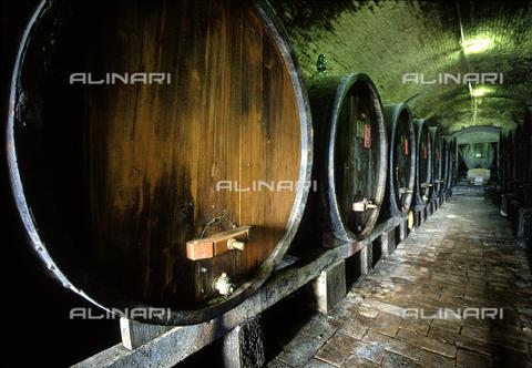 DAL-F-000651-0000 - Grandi botti nella cantina della Villa di Vignamaggio, nei dintorni di Greve in Chianti. - Data dello scatto: 1987 - Archivi Alinari, Firenze