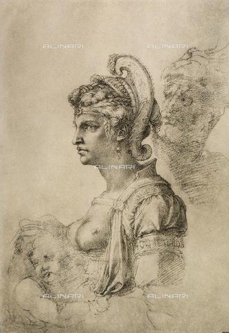 DIS-F-000007-0000 - Cleopatra, Gabinetto dei Disegni e delle Stampe, Uffizi Gallery, Florence