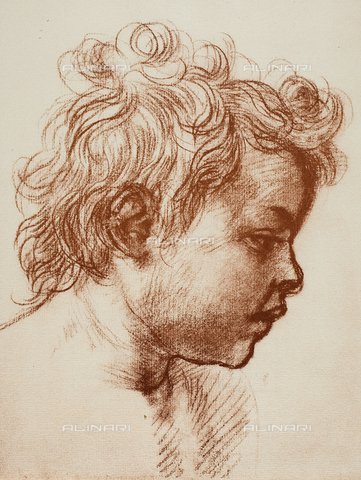 DIS-F-000008-0000 - Study for the head of the infant St. John, Gabinetto dei Disegni e delle Stampe, Uffizi Gallery, Florence