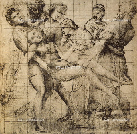 DIS-F-000083-0000 - Preparatory drawing for the Baglioni Altarpiece, displayed in the Uffizi Gallery, in the Gabinetto dei Disegni e delle Stampe, Florence