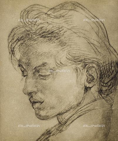 DIS-F-000088-0000 - Portrait of a young man in profile, Gabinetto dei Disegni e delle Stampe, Uffizi Gallery, Florence