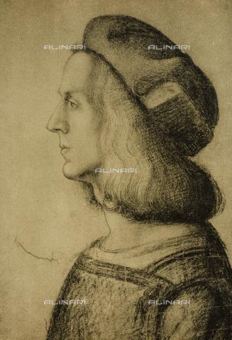 DIS-F-000107-0000 - Male profile, Gabinetto dei Disegni e delle Stampe, Uffizi Gallery, Florence