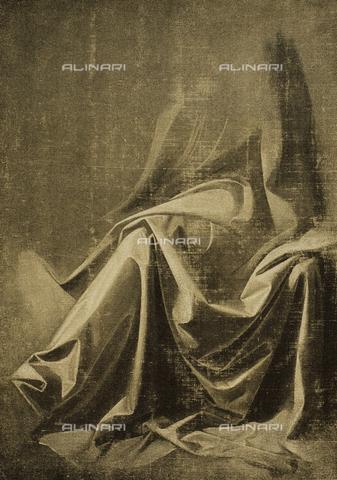 DIS-F-000151-0000 - Drapery study; drawing by Leonardo da Vinci. Gabinetto dei Disegni e delle Stampe, Uffizi Gallery, Florence