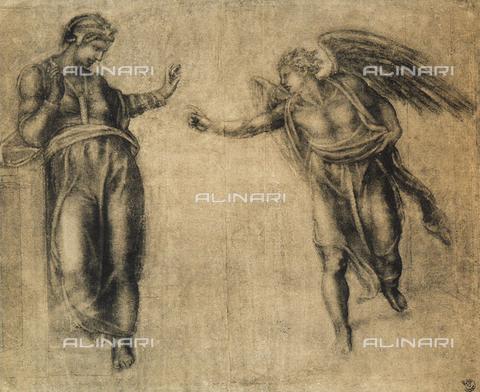 DIS-F-000173-0000 - Annunciation; Gabinetto dei Disegni e delle Stampe, Uffizi Gallery, Florence