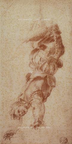 DIS-F-000272-0000 - Falling soldier, Andrea del Sarto, Gabinetto dei Disegni e delle Stampe, Uffizi Gallery, Florence.
