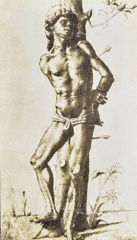 DIS-F-000335-0000 - Figure of a saint, Gabinetto dei Disegni e delle Stampe, Uffizi Gallery, Florence