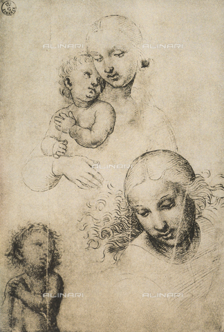 DIS-F-000362-0000 - Study for a Madonna and Child, Gabinetto dei Disegni e delle Stampe, Uffizi Gallery, Florence