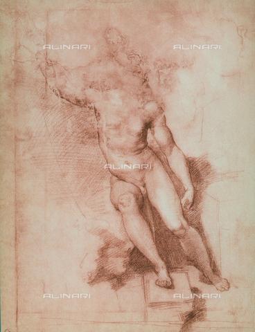 DIS-F-000363-0000 - Study for a St. John the Baptist, Gabinetto dei Disegni e delle Stampe, Uffizi Gallery, Florence