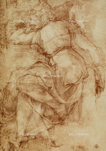 DIS-F-000372-0000 - Study for the Libyan Sibyl on the vault of the Sistine Chapel. Gabinetto dei Disegni e delle Stampe, Uffizi Gallery, Florence