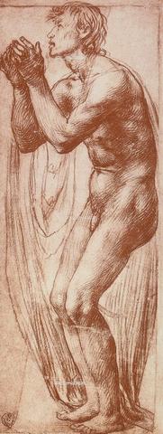DIS-F-000377-0000 - Human figure study, Gabinetto dei Disegni e delle Stampe, Uffizi Gallery, Florence