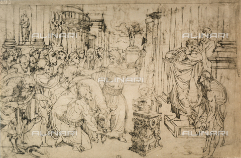 DIS-F-000397-0000 - Sacrifice of the Bull, drawing. Gabinetto dei Disegni e delle Stampe, Uffizi Gallery, Florence