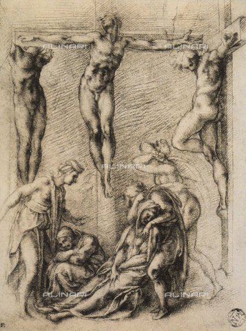 DIS-F-000851-0000 - Crucifixion, drawing, The Louvre, Paris