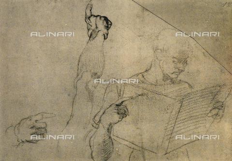 DIS-F-000864-0000 - Man reading, Michelangelo, Casa Buonarroti, Florence