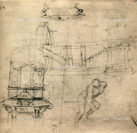 DIS-F-000872-0000 - Study for the Medicean tombs, Michelangelo, Casa Buonarroti, Florence