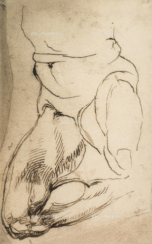 DIS-F-000873-0000 - Kneeling male figure, Michelangelo, Casa Buonarroti, Florence
