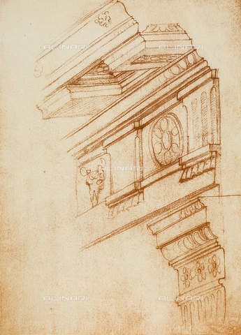 DIS-F-001003-0000 - Cornices, entablatures and capitals, Michelangelo, Casa Buonarroti, Florence