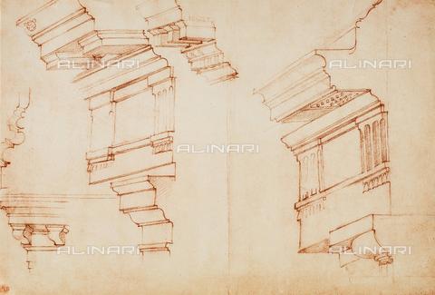 DIS-F-001016-0000 - Brackets, drawing, Casa Buonarroti, Florence