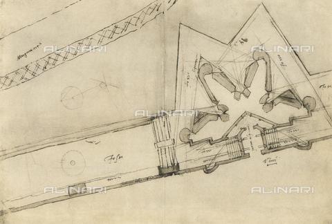 DIS-F-001042-0000 - Plan, drawing, Casa Buonarroti, Florence