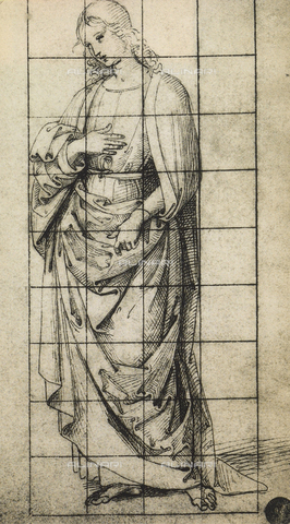 DIS-F-001075-0000 - Study for a St. John the Evangelist; drawing, Gallerie dell'Accademia, Venice