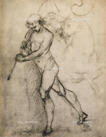 DIS-F-001097-0000 - Studio di nudo maschile con vessillo, Gallerie dell'Accademia, Venezia