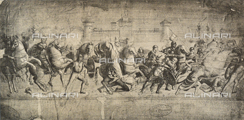 DIS-F-001110-0000 - Cavaliers in combat, drawing, Gallerie dell'Accademia, Venice