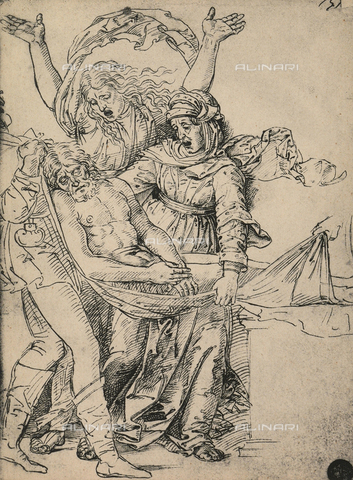 DIS-F-001123-0000 - Study for the deposition from the cross, drawing, Gallerie dell'Accademia, Venice