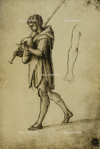 DIS-F-001129-0000 - Study for a piper, drawing, Gallerie dell'Accademia, Venice