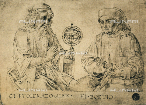 DIS-F-001134-0000 - Portrait of Ptolemy and Boethius, drawing, Gallerie dell'Accademia, Venice