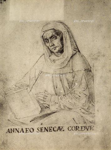DIS-F-001168-0000 - Ritratto di Seneca, disegno, Gallerie dell'Accademia, Venezia