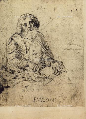 DIS-F-001169-0000 - Ritratto di Platone, disegno, Gallerie dell'Accademia, Venezia