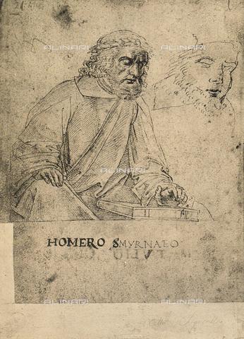 DIS-F-001170-0000 - Omero, disegno, Gallerie dell'Accademia, Venezia
