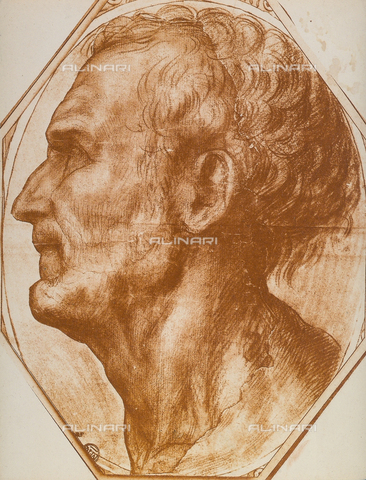 DIS-F-001272-0000 - Study of a man's head, Andrea del Sarto, The Louvre, Paris