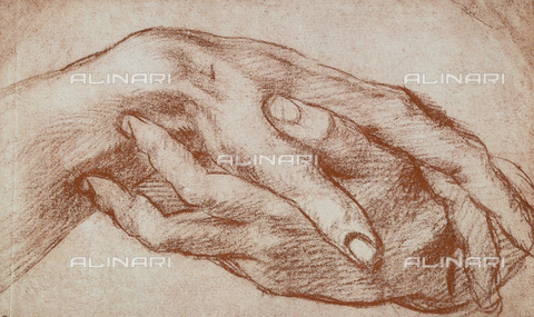 DIS-F-001281-0000 - Study of hands, Andrea del Sarto, The Louvre, Paris