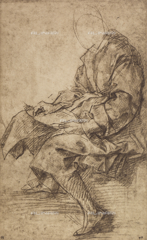 DIS-F-001284-0000 - Study of a male figure, Andrea del Sarto, The Louvre, Paris