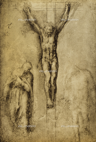 DIS-F-001343-0000 - Crucifixion, drawing, Michelangelo, The Louvre, Paris