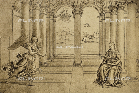 DIS-F-001523-0000 - Annunciation, drawing by Raphael, The Louvre