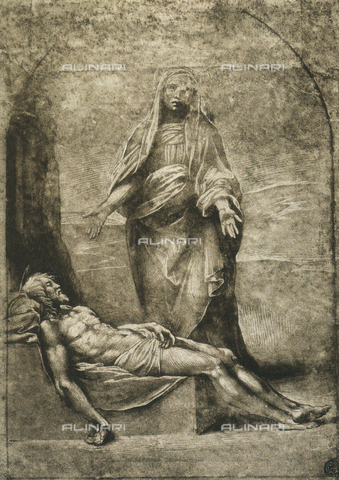 DIS-F-001524-0000 - Pietà, drawing by Raphael, The Louvre, Paris